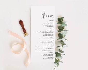 Wedding menu template etsy printable wedding menu wedding menu template wedding menu menu template printable wedding menu template reception menu cs12 maxwellsz