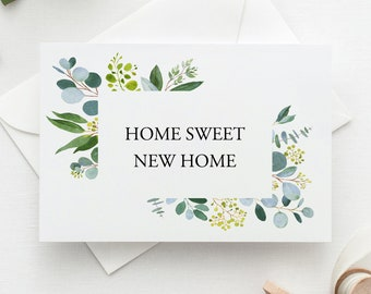Personalised Moving Home Change of Address Floral Cards Inc Envelopes NH14