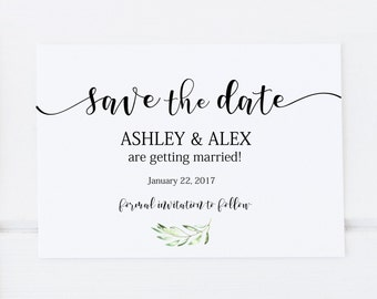 wedding save the date template editable template wedding etsy