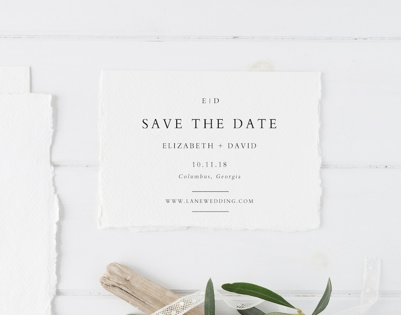 Minimalist BF19 Editable Save the Date Card Calligraphy Save the Date Printable Save the Date Template Templett Save the Dates