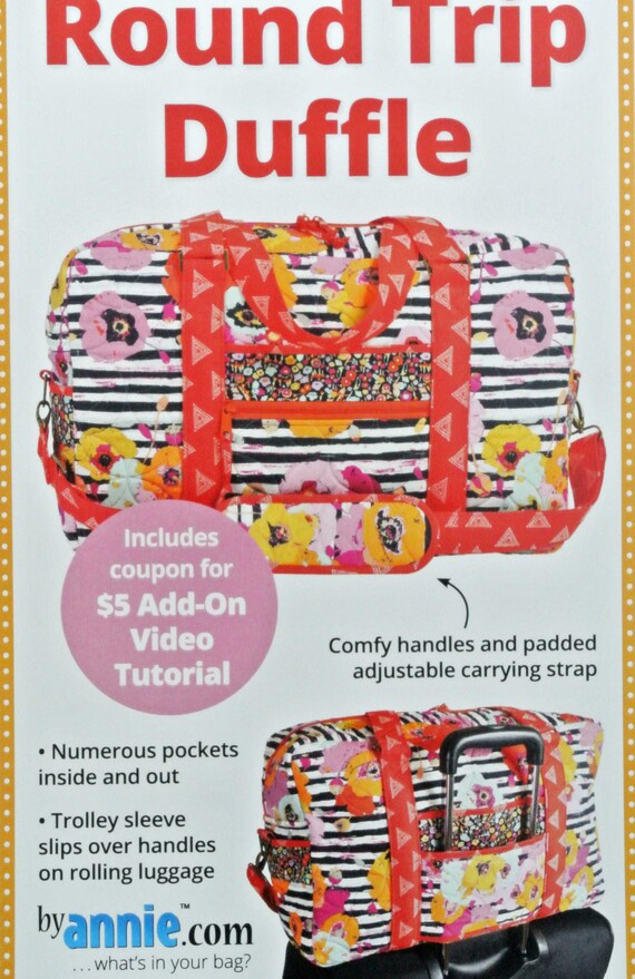 Travel Essentials Bag Sewing Pattern from By Annie *NEW*