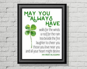 Irish Blessing Decor - St Patricks Day Printable - Printable Art - Home Decor - Wall Decor - Printable Wall Art - Instant Download