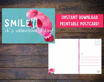 Printable Valentine - Kids Valentine - Valentines Day - Valentines Day Card - Valentine Card - Printable Valentine - Instant Download