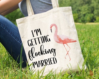 Bride Canvas Tote - Bridal Bags - Just Married Tote - Bride Gift - Gift for Bride - Bride to Be Gift - Bride to Be Tote Bag - Trending Totes