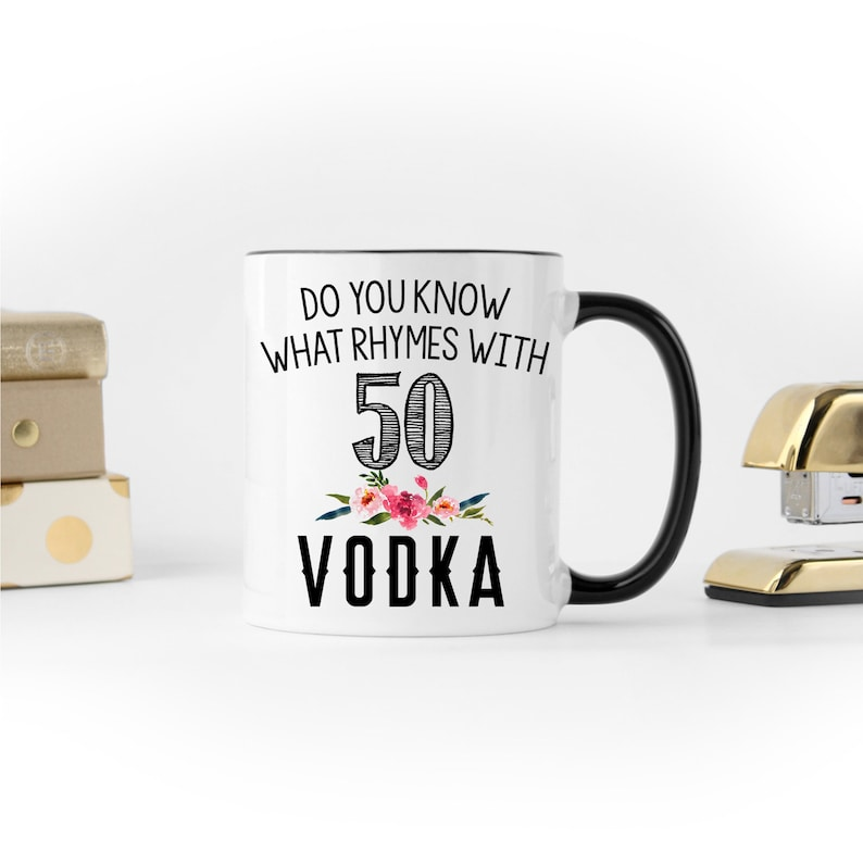 50th Birthday Gift Mug Turning 50 Funny For Coworker