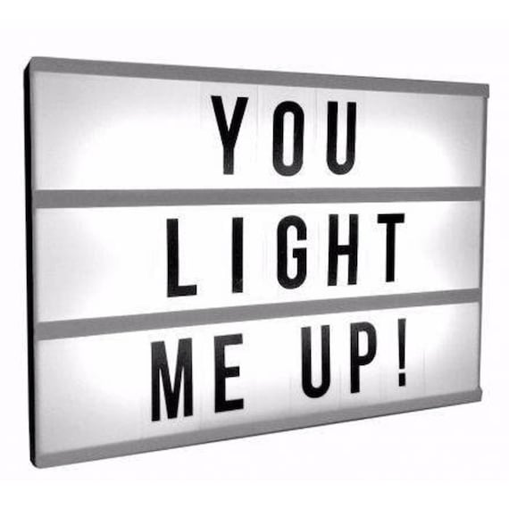 Letter Light Boxes.Cinematic Lightbox Letter Light Box Vintage Cinema Sign Wedding Display Gift For Her Him Couple Housewarming Home Room Family Personalized