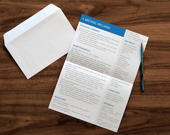Modern Resume and Cover Letter Templates | Available in Microsoft Office PowerPoint and Google Slides | Easy to Read | Instant Download