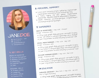 Creative Resume Template Design | Marketing CV Design | Easy-To-Use format | Microsoft Office PowerPoint | Instant Download | PDF