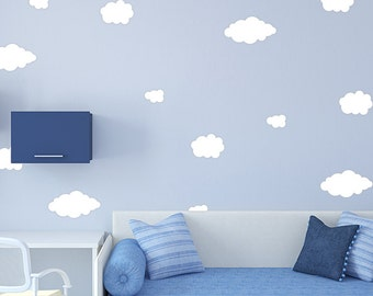 Clouds Wall Decor Decals - Color Clouds Decal Set - Pattern Decals - Dorm room wall patten - Nursery room decor - Clouds Wall Decals