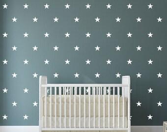 Stars Wall Decor Decals - Stars Decal Set - Pattern Decals - Nursery room decor - Stars Wall Decals