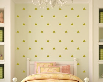 Gold Triangles Wall Decor Decals - Triangles Decal Set - Pattern Decals - Nursery room decor - Triangle Wall Decals