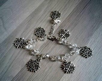 Bracelet snowflakes - Christmas - snowflake - winter - winter - snow - gift - party outfit - magic