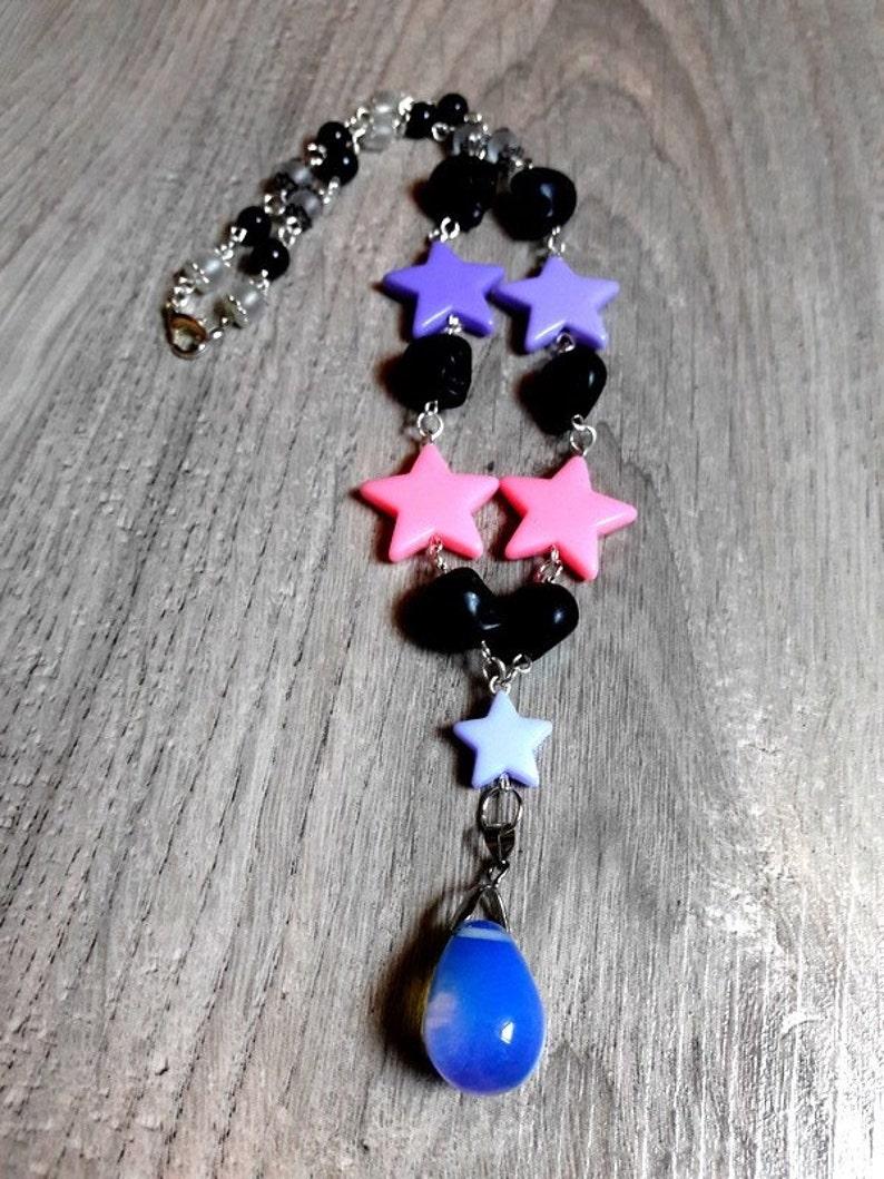 rockabilly opalite metal skulls psychobilly rock stars pastel grunge pastel goth Original necklace skull candy