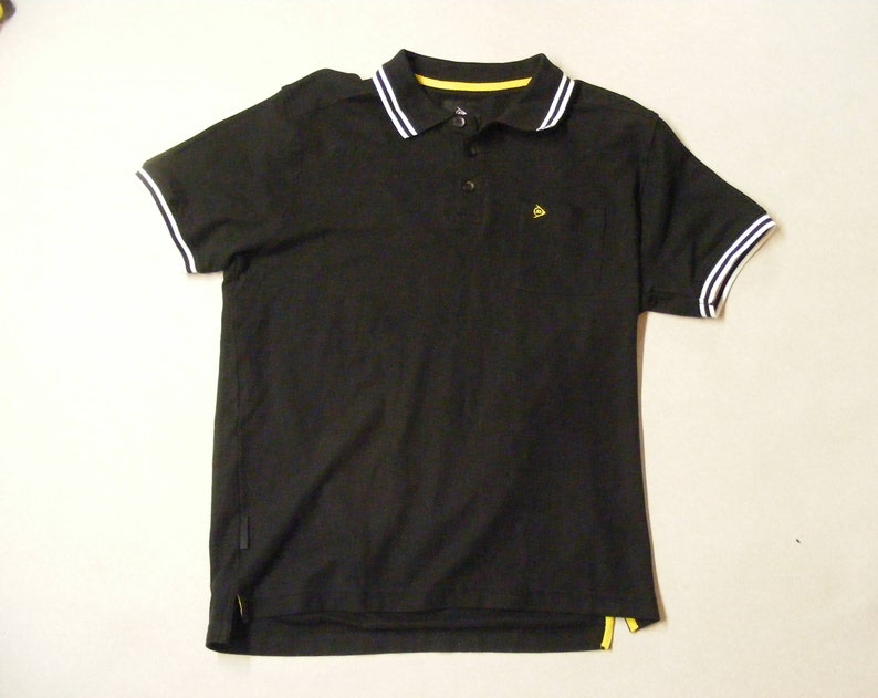DUNLOP Short Sleeve Polo Shirt Large Size Cotton Black Color Free Shipping