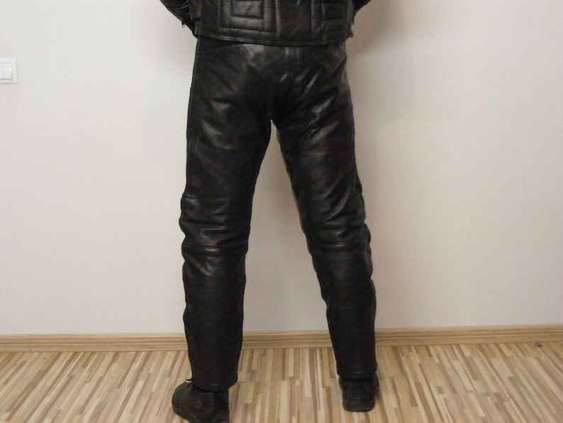 Vintage JTS Legend Mens Leather Motorcycle Trouser Chopper  f4578f33b