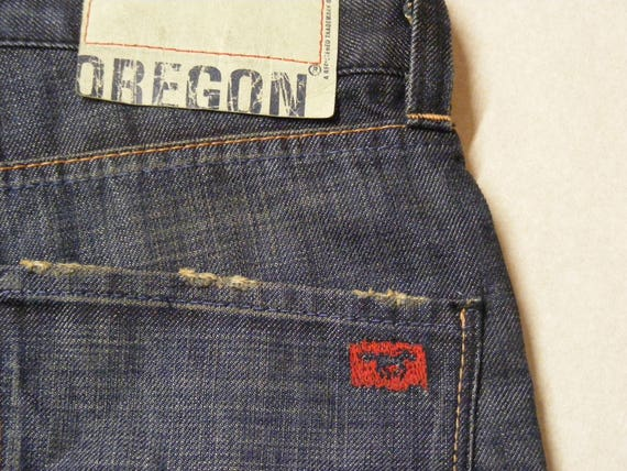 Blue Men's Bootcut L32 Button Oregon Vintage Damaged Mustang Distressed Jeans Denim W30 Fly rWxBdCoe