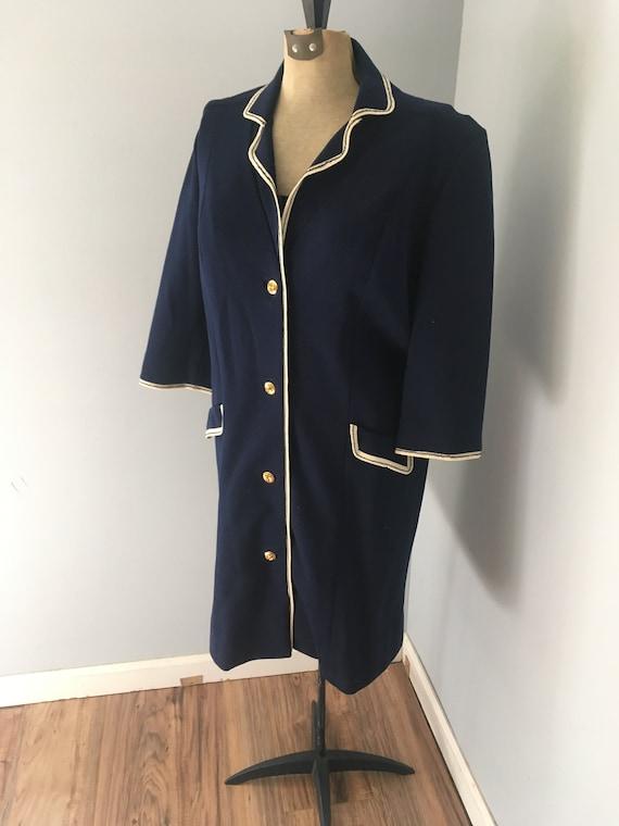 Vintage Butte Knit Button Down Jacket Large Dark Blue Etsy