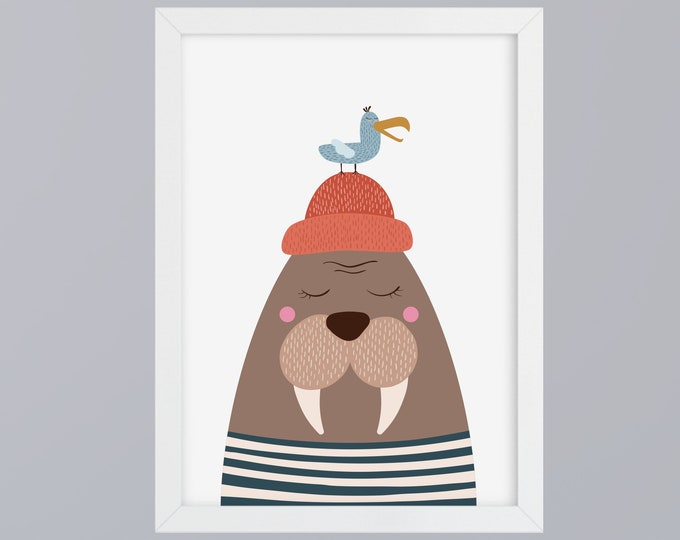 Featured listing image: Walther Walrus-art print without frame