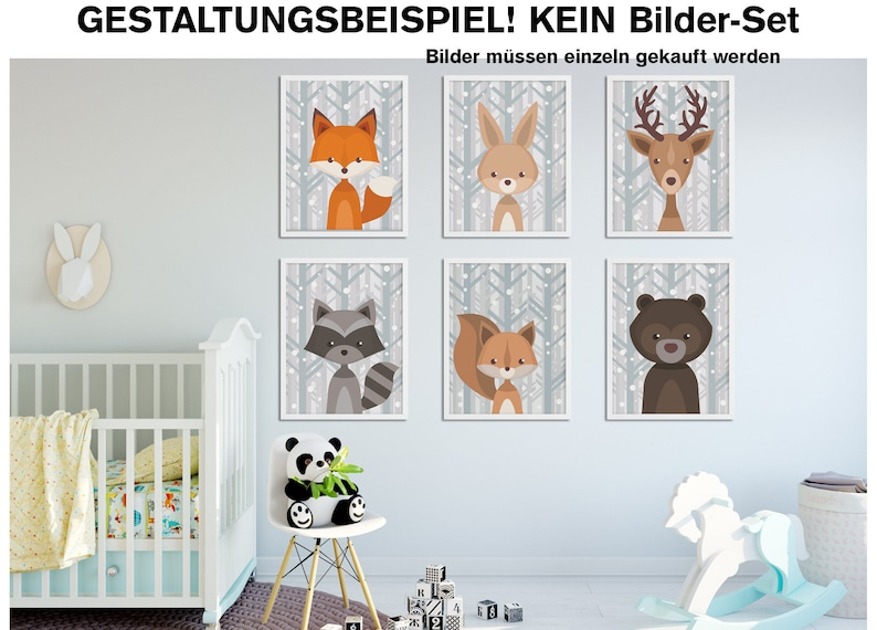 Bear-art print without frame