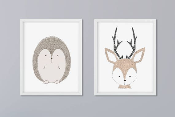 Set of 2 pictures-animals according to choice art print