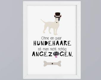 Dog hair - unframed art print