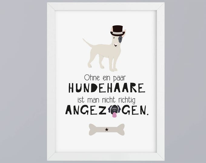 Dog hair-art print without frame