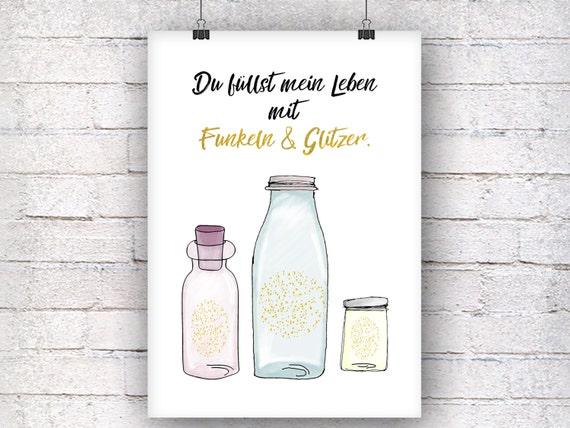 Sparkle and glitter art print gift family art Print fine art print
