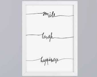 Smile - unframed art print