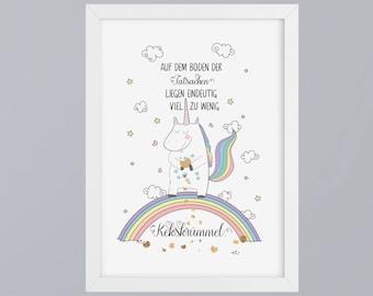Unicorn / Kekskrümmel - unframed art print