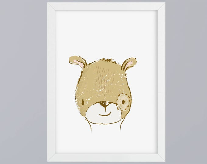 Bear drawn-art print without frame