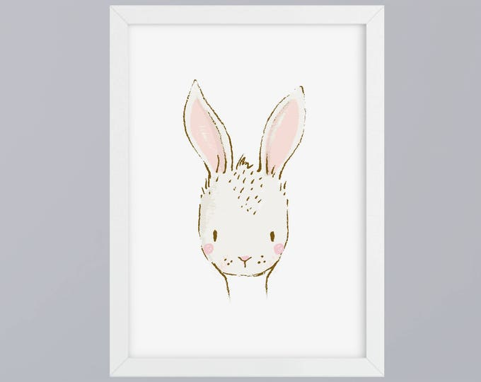 Bunny drawn-art print without frame