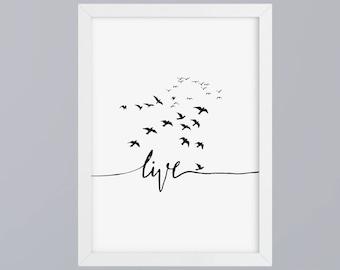 Live - unframed art print