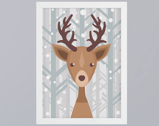 Deer Art Print without frame