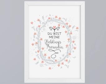 Favorite girlfriend - unframed art print