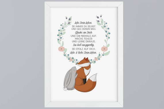 Fox and Bunny proud-art print without frame
