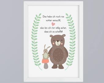 Bear and Bunny - unframed art print