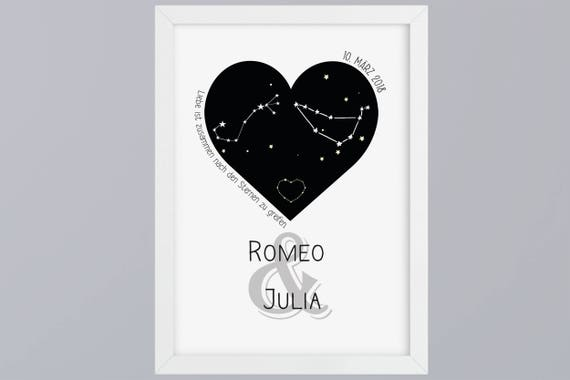 Constellation Wedding-Art print without frame