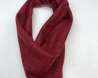 Women Red Burgundy Polka dot chiffon Stole wrap Winter Xmas Stocking Filler