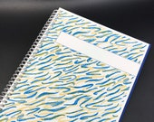 SQUIGGLES Spiral Hardcover Notebook Journal 6.5 x 8.25 150 pages Dot Grid bullet Lined Grid Graph Gift