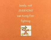 Kung Foo Fighting Kraft Funny Writing Journal Spiral Hardcover Notebook 6.5 x 8.25 150 pages