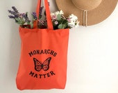 Monarchs Matter Tote Bag, Choose Size and Color