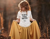 Save the Bees Kids Shirt, Organic Kids Clothes, Gender Neutral Baby, Organic Kids Tshirt, Save the Bees Shirt, Organic Cotton Shirt, Bees