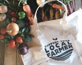 Farmers Market, Support Your Local Farmer, Farmers Market Tote, 100% Cotton Canvas Bag, Farmers Market Bag, Reusable Tote, Shop Local, Farm