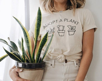 Crazy Plant Lady, Gardening Shirt, Plant Lady Shirt, Plant Tshirt, Garden Tshirt, Plants are Friends, Adopt a Plant, Magnolia Roots