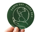 Earth Day Every Day Sticker, Vinyl Stickers, Earth Stickers, Laptop Sticker, Car Decal