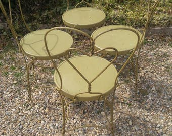 Vintage Set Of 3 Ice Cream Parlor Chairs (Priced As A Set, As In For All 3)
