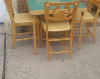 Card Table Chairs Etsy - Mid century modern card table