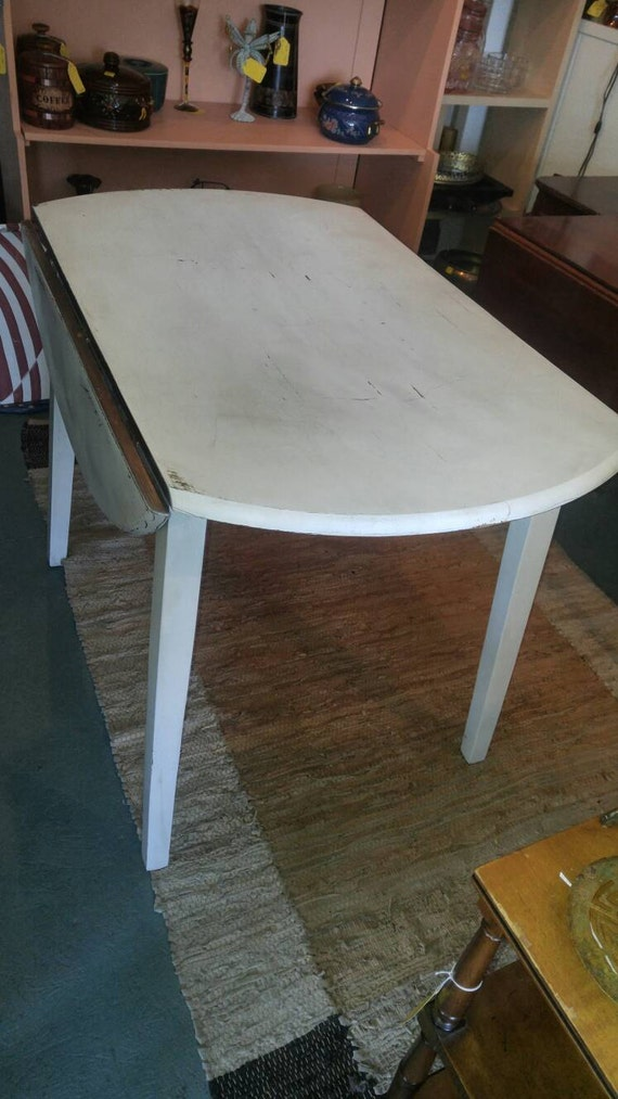 Peachy Shabby Chic Nordic White Circular Drop Leaf Table Ocoug Best Dining Table And Chair Ideas Images Ocougorg