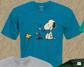 d5143aa97d Snoopy   Woodstock Camping T-Shirt