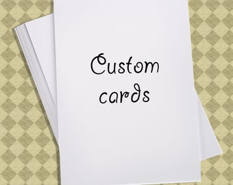 Custom Greeting Cards, Personalized Handmade Cards